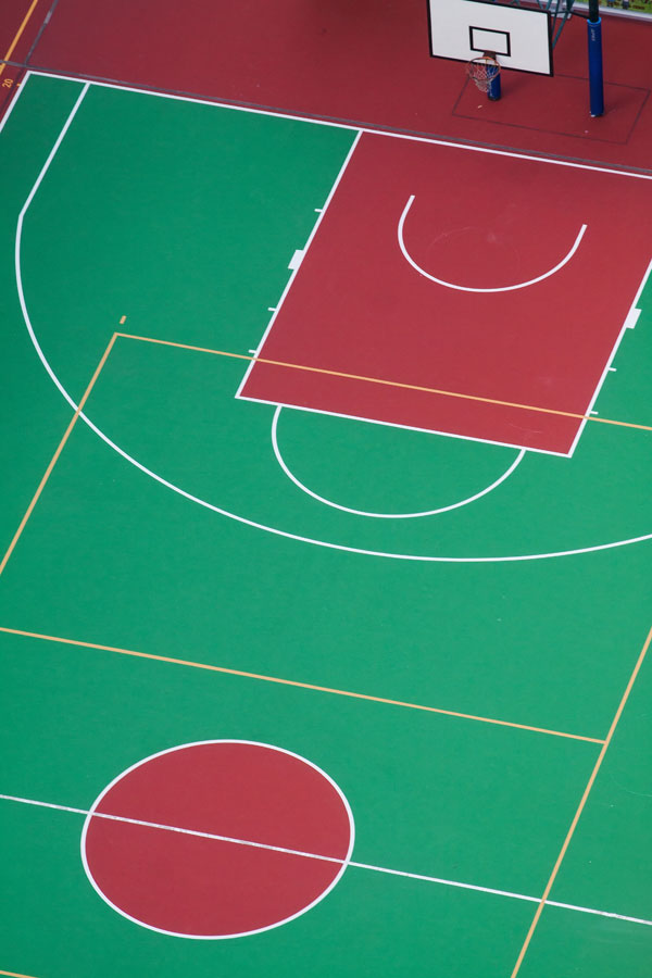 Outdoor Basketball Court Surfacing