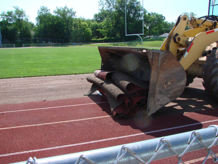 Running Track Re-Construction