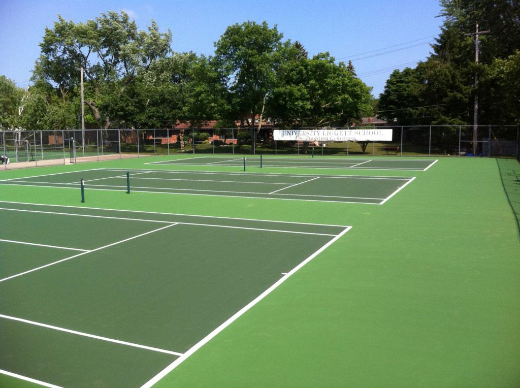 Tennis Court Construction Michigan Gts