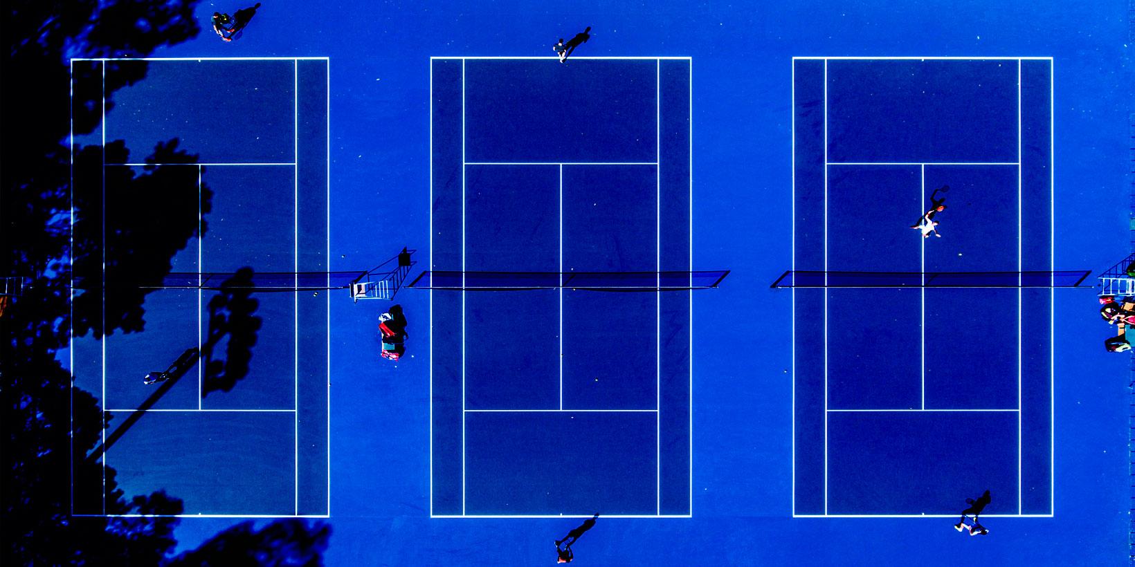 World Class Competition Tennis Court Construction